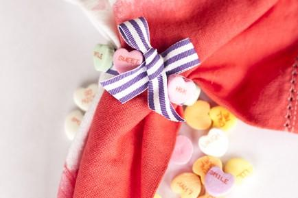 Conversation Heart Napkin Rings