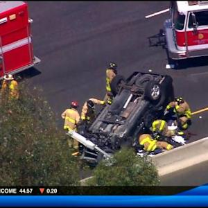 I-15 lanes blocked after rollover accident