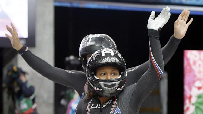 USA-1 leads in Olympic bobsled, Lolo Jones 11th