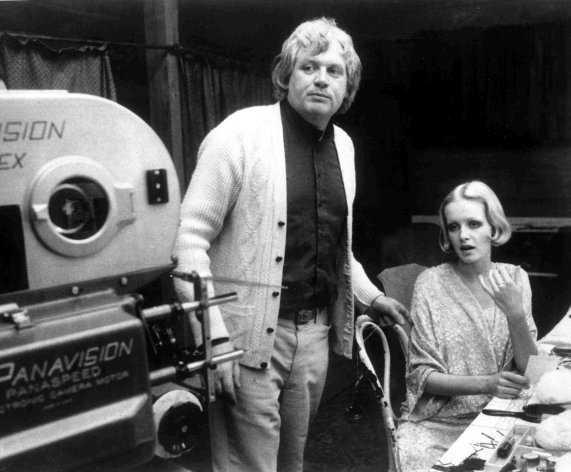 "FILE- British film director Ken Russell with British model Twiggy during the filming of the movie ""The Boy Friend"", at Elstree Studios, north of London, England, in this file photo dated Aug. 4, 1971. Ken Russell has died aged 84 it is announced Monday Nov. 28, 2011. Russel, whose daring and sometimes outrageous films often tested the patience of audiences and critics, his films included ""The Music Lovers"" in 1970, ""Lisztomania"", and the rock opera ""Tommy"" in 1975.(AP Photo/file) (AP Photo)"