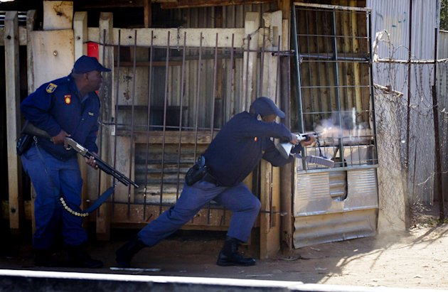 &lt;p&gt;Police officers in Johannesburg, South Africa&lt;/p&gt;