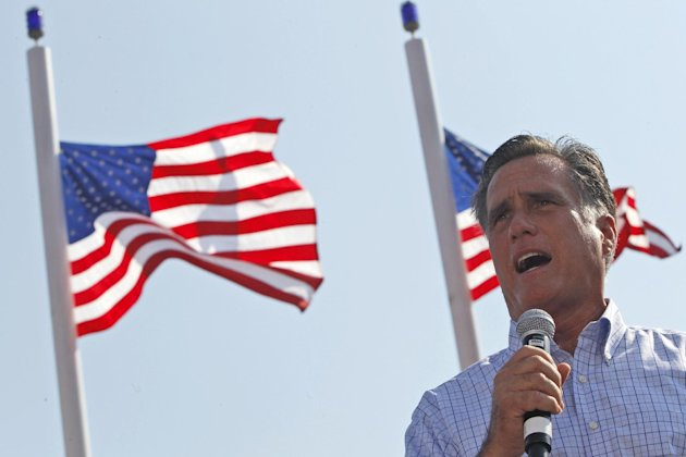 Republican presidential candidate, former Massachusetts Gov. Mitt Romney speaks at a campaign event, Saturday, Sept. 1, 2012, in Jacksonville, Fla.