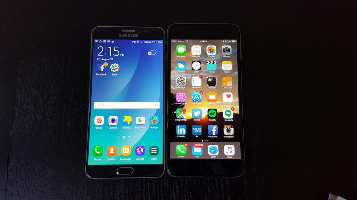 I spent a week switching between the iPhone 6 Plus and Samsung Galaxy Note 5 — here's how they compare