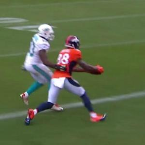 Denver Broncos wide receiver Demaryius Thomas' 5-yard TD catch