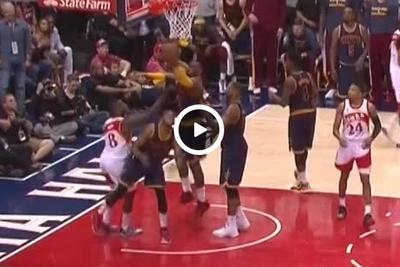 LeBron James acts like a complete doofus at the end of the third quarter