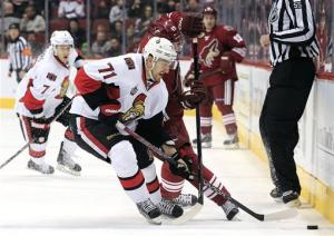 Vrbata scores 23rd, Coyotes hold off Senators 3-2