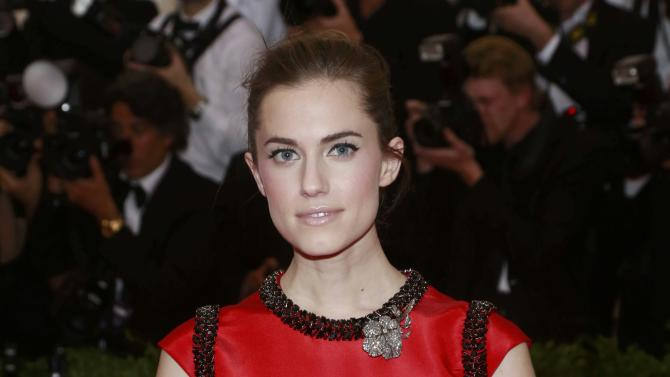 "U.S. actress Allison Williams arrives for the Metropolitan Museum of Art Costume Institute Gala 2015 celebrating the opening of ""China: Through the Looking Glass,"" in Manhattan"