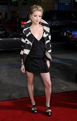 Amber Heard at the Los Angeles premiere of Universal Pictures' Forgetting Sarah Marshall
