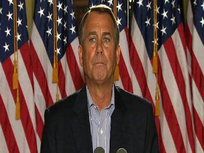 Boehner: No progress in fiscal cliff talks