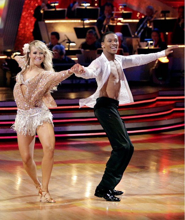 Romeo and Chelsie Hightower perform on &quot;Dancing with the Stars.&quot; 