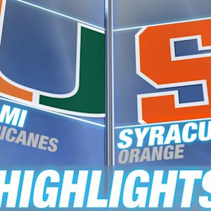 Miami vs Syracuse | 2014-15 ACC Men's Basketball Highlights