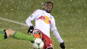 "New York Red Bulls striker Peguy Luyindula ""three, four games"" from being in top form"