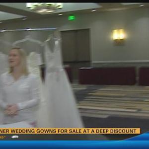 Designer wedding gowns for sale at a deep discount 6:45 a.m.