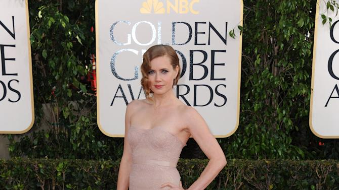 Actress Amy Adams arrives at the 70th Annual Golden Globe Awards at the Beverly Hilton Hotel on Sunday Jan. 13, 2013, in Beverly Hills, Calif. (Photo by Jordan Strauss/Invision/AP)