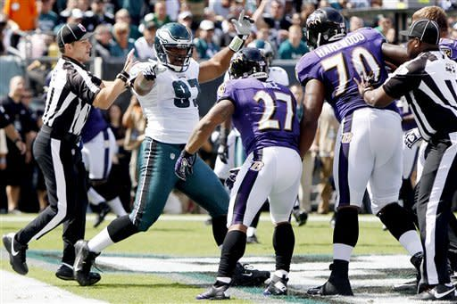 Vick rallies Eagles for late 24-23 win over Ravens