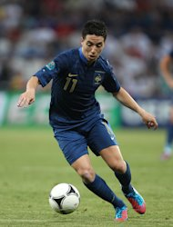 Scorer of France&#39;s equaliser, Samir Nasri (pictured), admitted he deceived Manchester City team-mate Joe Hart