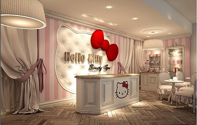 Entrance of Dubai's Hello Kitty Beauty Spa (Photo courtesy of HelloKittyBeautySpa.com)