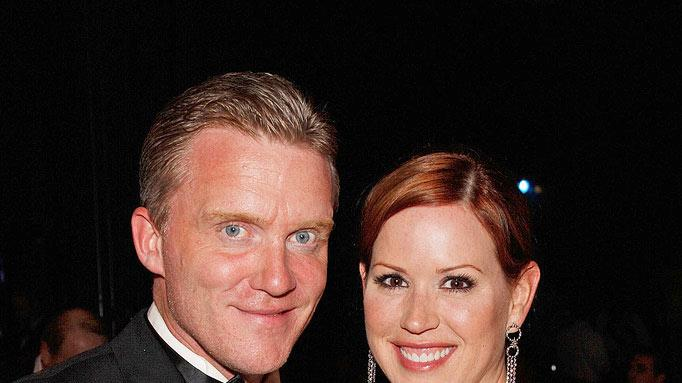 Anthony Michael Hall and Molly Ringwald  attend the 36th AFI Life Achievement Award tribute to Warren Beatty on June 12, 2008