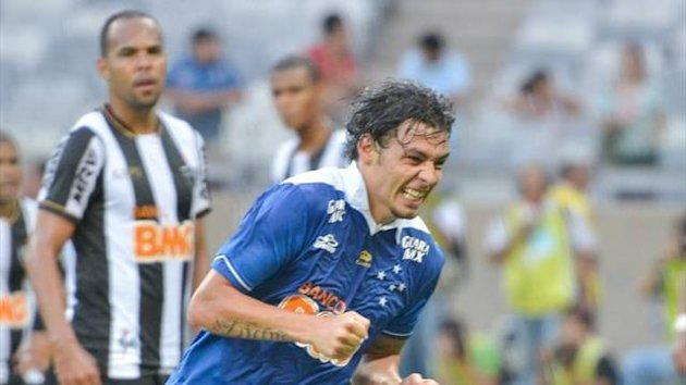 Ricardo Goulart celebrates after scoring in the Belo Horizonte derby (Imago)