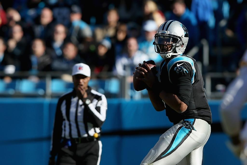 Newton throws five TDs as Panthers stay perfect