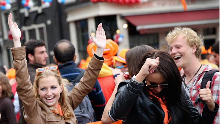 The Public Celebrates The Inauguration Of King Willem Alexander As Queen Beatrix Of The Netherlands Abdicates