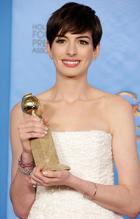 "Anne Hathaway's ""Up Skirt Shot"" Mocked by Sacha Baron Cohen at Golden Globes"