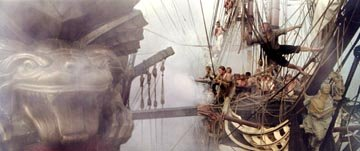 The crew of the Surprise storms the enemy ship Acheron in 20th Century Fox's Master and Commander: The Far Side of The World