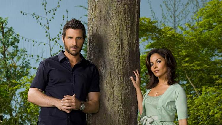 Ed Quinn stars as Nathan Stark and Salli Richardson-Whitfield stars as Allison Blake in Eureka.