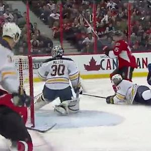 Zack Smith goes top-shelf on Ryan Miller