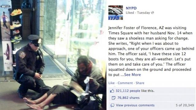 NYPD Act of Kindness Goes Viral on Facebook