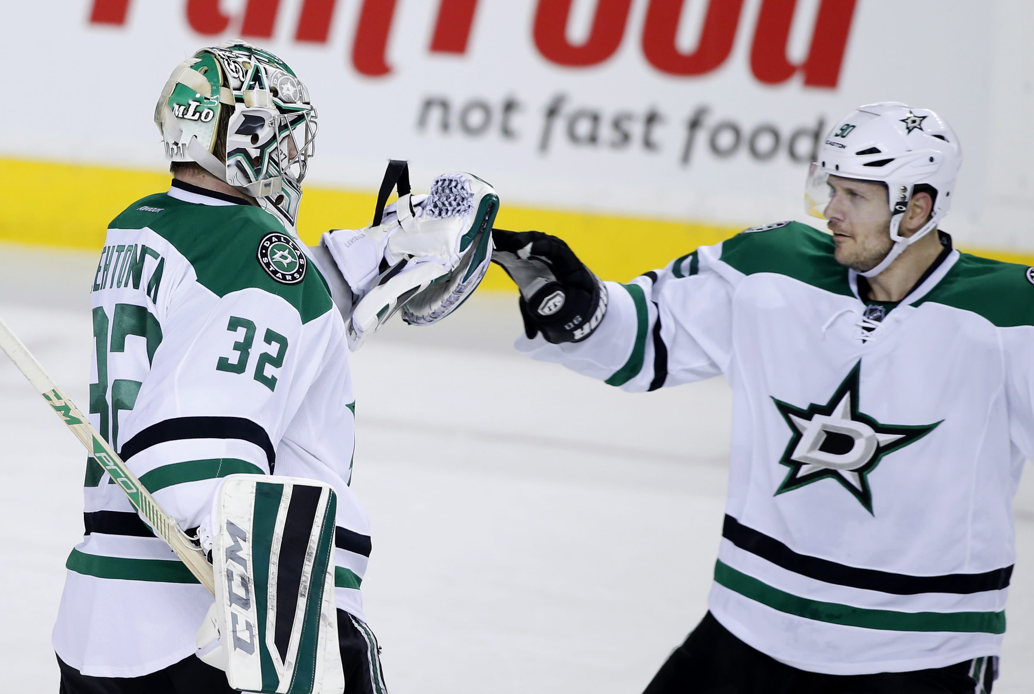 Hemsky scores 2, Seguin gets SO winner as Stars beat Flames