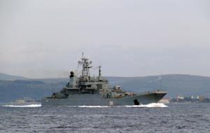 """Russian warship named """"Yamal"""" and numbered """"156"""" is…"""