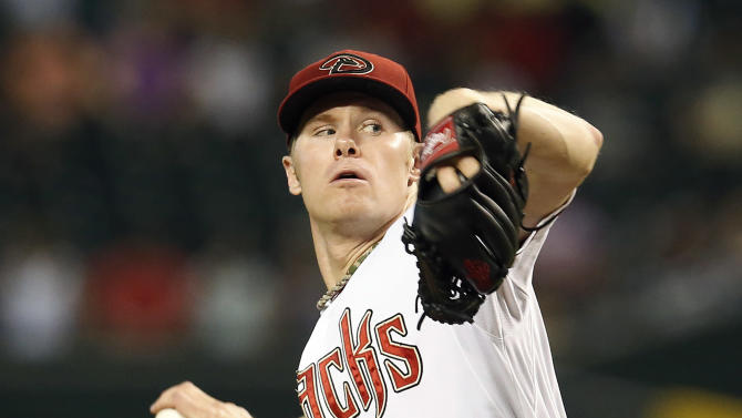 Arizona Diamondbacks pitcher Chase Anderson throws in the first inning during a baseball game against the Colorado Rockies, Friday, July 3, 2015, in Phoenix. (AP Photo/Rick Scuteri)