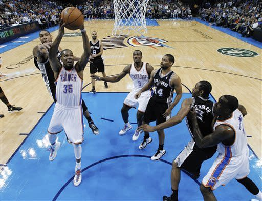 Thunder top Spurs 100-88 in key West showdown