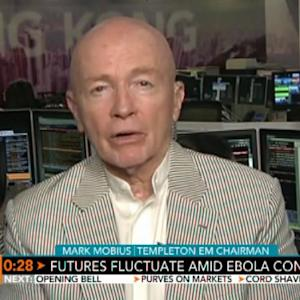 Mobius: I Don't Think Ebola Will Have Big Market Impact
