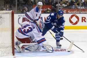 Biron makes 20 saves, Rangers beat Maple Leafs 3-0