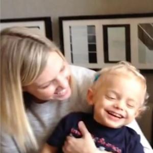 2-year-old hears mother's voice for the first time