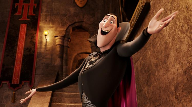 "This image released by Sony Pictures shows Dracula, voiced by Adam Sandler, in a scene from ""Hotel Transylvania."" (AP Photo/Sony Pictures Animation)"