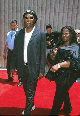 Samuel L. Jackson and wife at the Westwood premiere of 20th Century Fox's Star Wars: Episode I