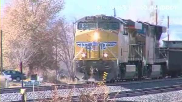Caught on camera: Train smashes truck