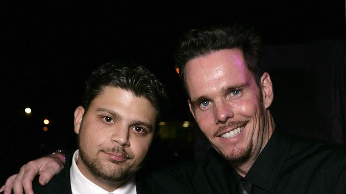 Actor Jerry Ferrara and Actor Kevin Dillon attend HBO after party for the 59th Annual Primetime Emmy Awards at The Pacific Design Center on September 16, 2007 in Los Angeles, California.