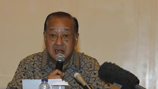 Chief Executive of PT Freeport Indonesia Soetjipto talks during a news conference in Jakarta