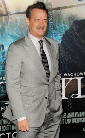 Tom Hanks arrives at the &#39;Cloud Atlas&#39; premiere at in Hollywood, Calif. on October 24, 2012  -- Getty Images