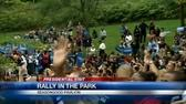 Obama rallies supporters at Eden Park