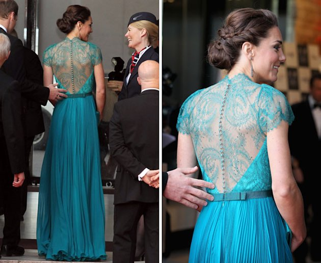 kate middleton green dress olympics