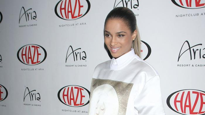 Singer Ciara arrives at Haze Nightclub at the Aria Hotel and Casino for a special performance in Las Vegas