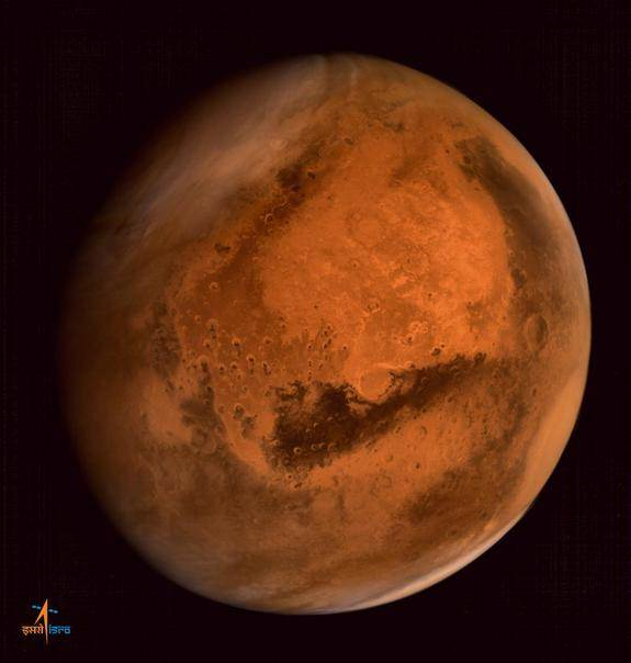 Indian Spacecraft Snaps Spectacular Portrait of Mars (Photo)