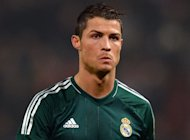 Real Madrid's Portuguese forward Cristiano Ronaldo