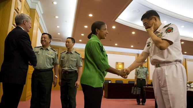 U.S. National Security Advisor Susan Rice visits Chinese Ministry of National Defense in Beijing