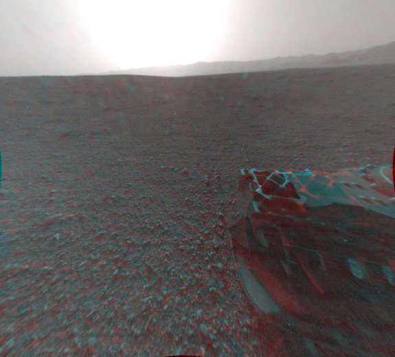 New Mars Photos: First 3-D Views From NASA's Curiosity Rover